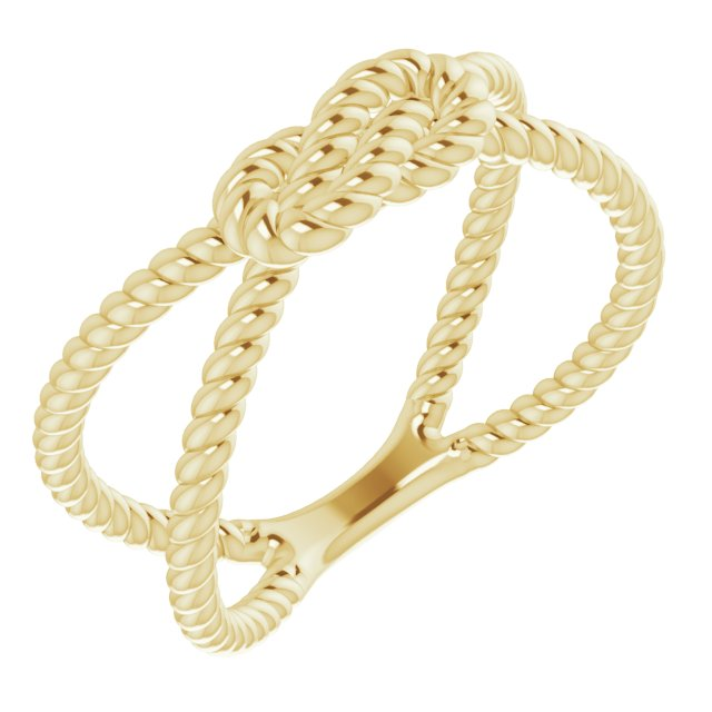 14K Yellow Rope Knot Ring