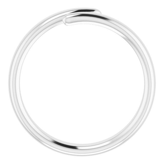 14K White Bypass Ring