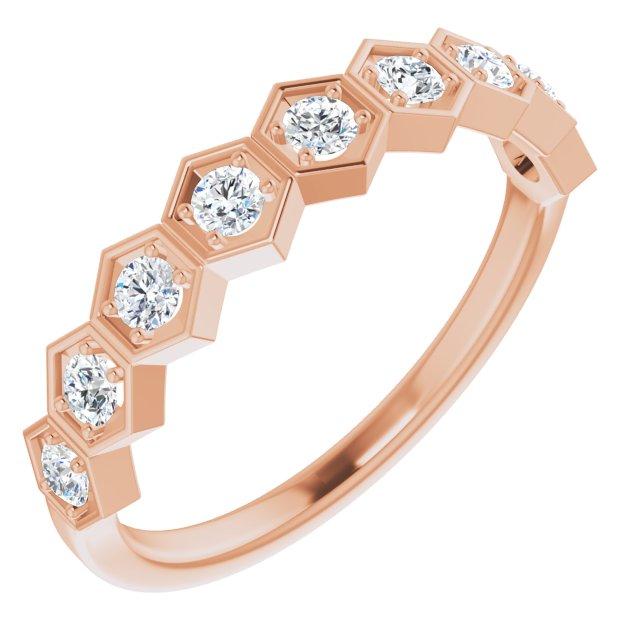 14K Rose 1/3 CTW Diamond Stackable Ring