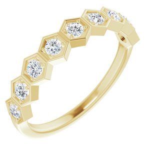 14K Yellow 1/3 CTW Diamond Stackable Ring
