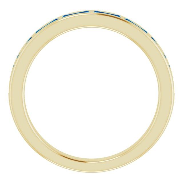 14K Yellow Blue Sapphire Ring