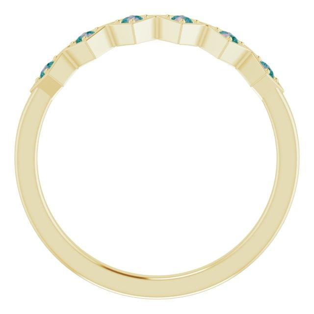 14K Yellow Alexandrite Stackable Ring