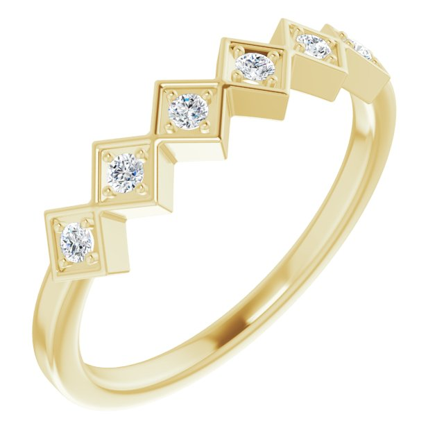 14K Yellow 1/8 CTW Diamond Stackable Ring