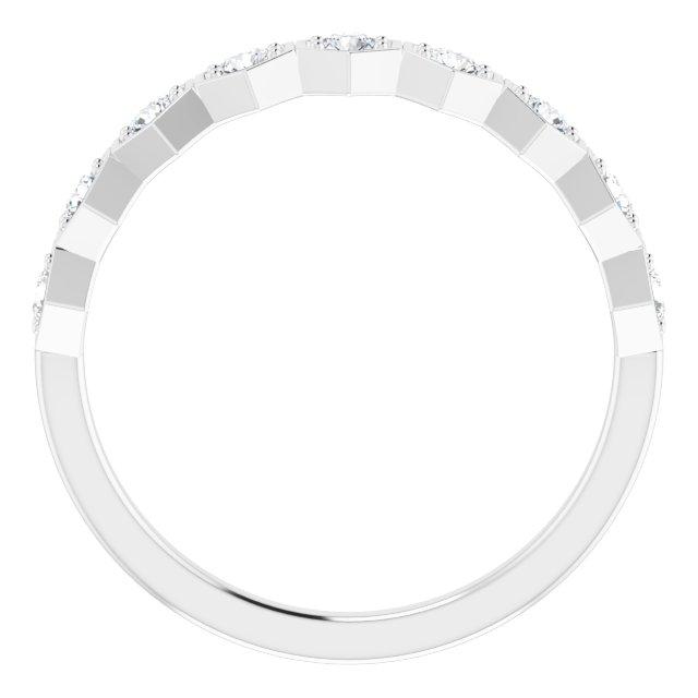 14K White 1/3 CTW Diamond Stackable Ring