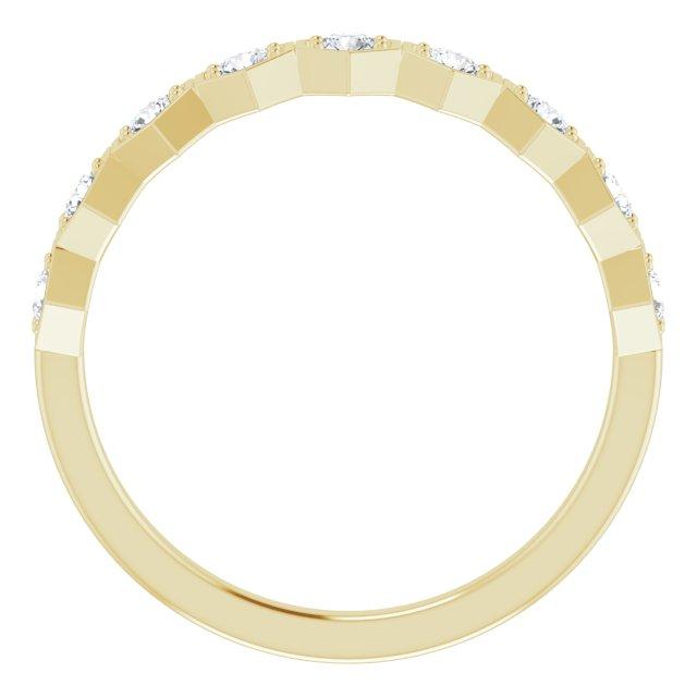 14K Yellow 1/3 CTW Diamond Stackable Ring