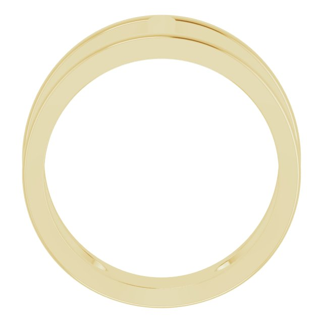 14K Yellow 11.3 mm Negative Space Ring