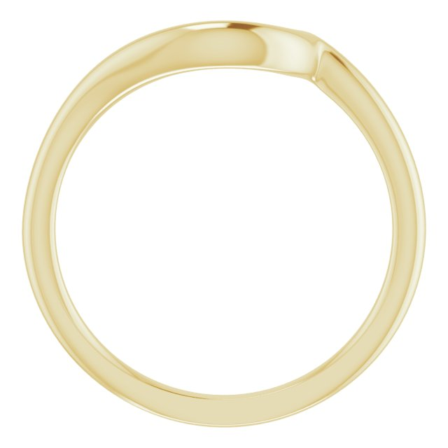 14K Yellow Band for 6.5 mm Round Ring