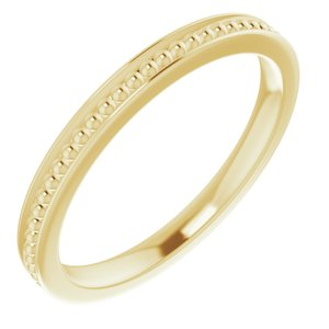 14K Yellow Stackable Bead Ring Size 5