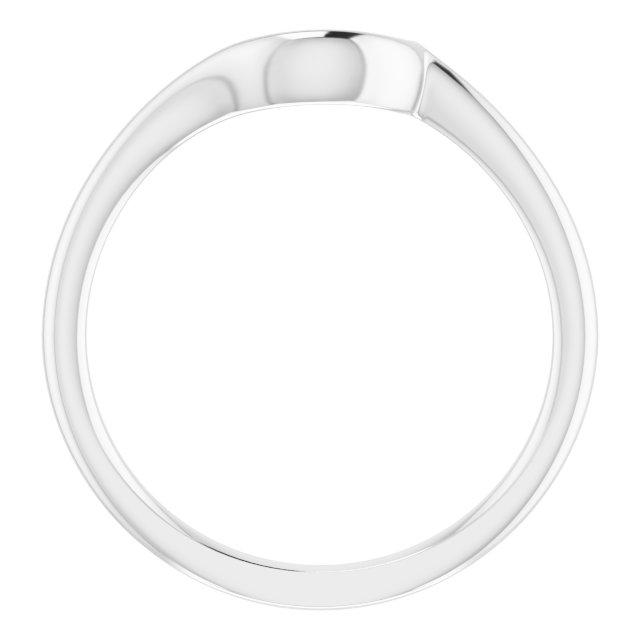 14K White Band for 5.2 mm Engagement Ring
