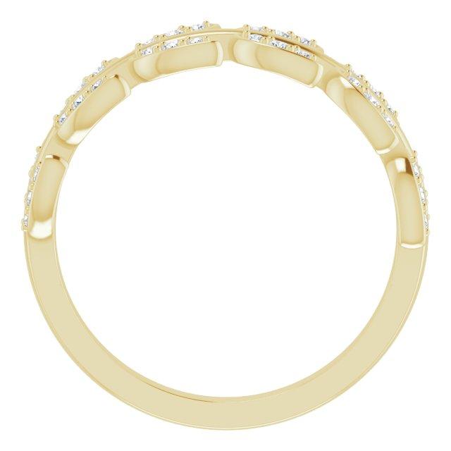 14K Yellow 1/4 CTW Diamond Leaf Ring