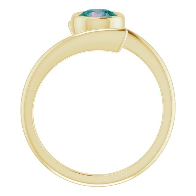 14K Yellow Lab-Grown Alexandrite Ring