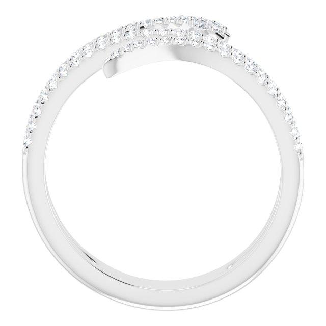 14K White 1/3 CTW Diamond Snake Ring