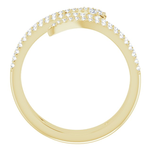 14K Yellow 1/3 CTW Diamond Snake Ring