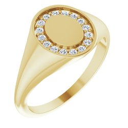Diamond Ladies Signet Ring alebo neosadený