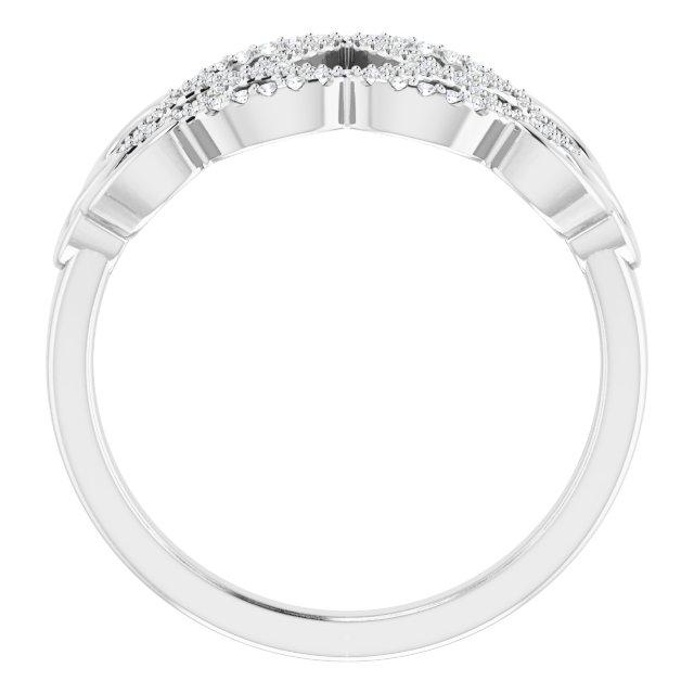 14K White 1/5 CTW Diamond Woven Ring