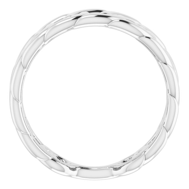 Sterling Silver Stackable Chain Link Ring