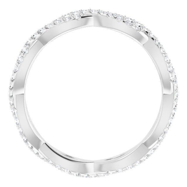 14K White 1/3 CTW Diamond Infinity-Inspired Eternity Band Size 6