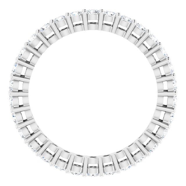 14K White 9/10 CTW Natural Diamond Eternity Band Size 6.5