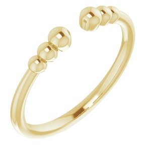 14K Yellow Beaded Ring