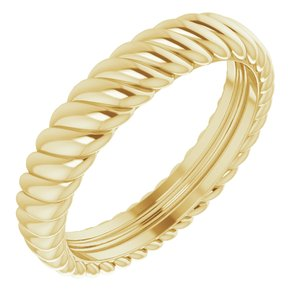 14K Yellow 3.5 mm Rope Band Size 4.5