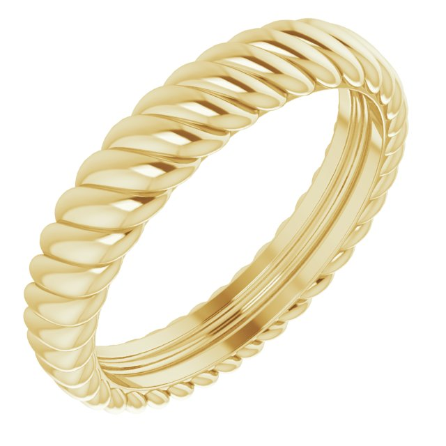 14K Yellow 3.5 mm Rope Band Size 5
