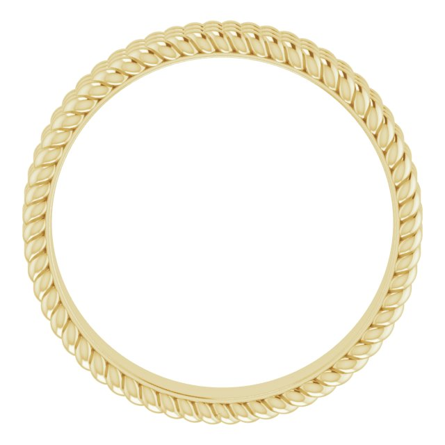 14K Yellow 5.25 mm 3-Layered Stacked Rope Band Size 7