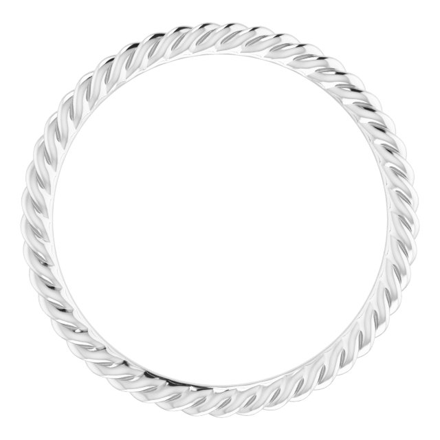 Platinum 1.5 mm Skinny Rope Band Size 6
