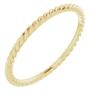 14K Yellow 1.5 mm Skinny Rope Band Size 8.5