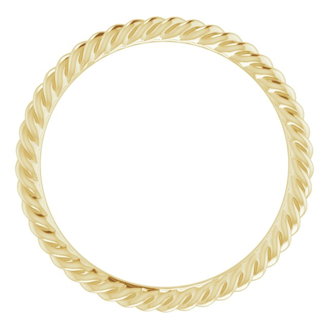 14K Yellow 1.5 mm Skinny Rope Band Size 5