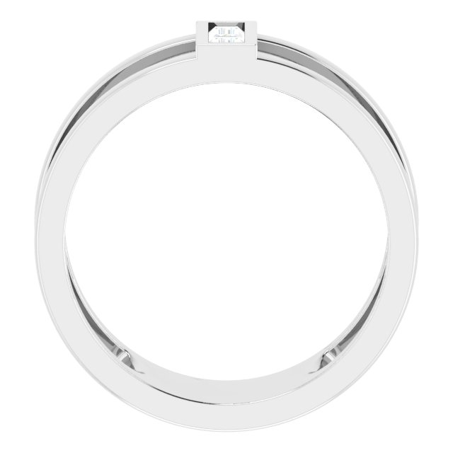 14K White 1/4 CTW Diamond Baguette Ring