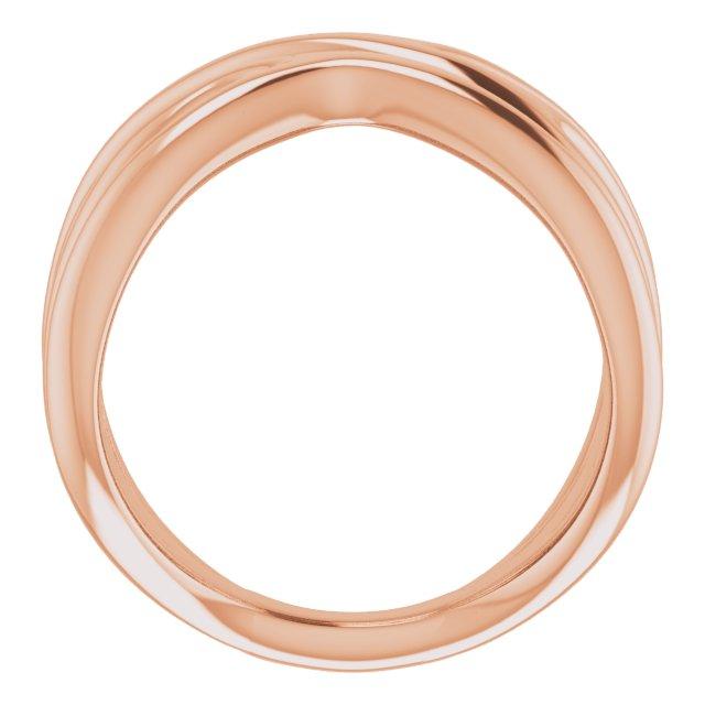 14K Rose Negative Space Ring