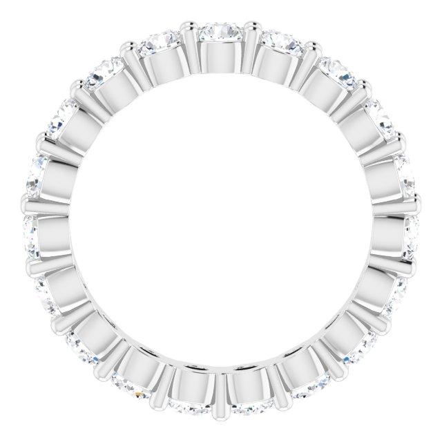 Platinum 1 3/4 CTW Diamond Eternity Band Size 6.5