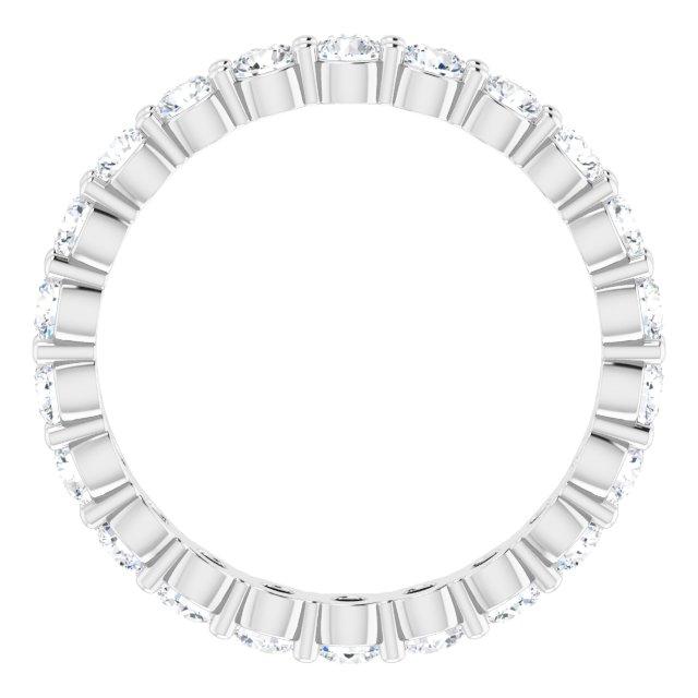 14K White 1 3/8 CTW Diamond Eternity Band Size 5