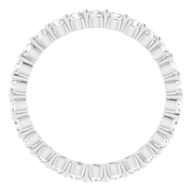 14K White 3/4 CTW Diamond Eternity Band Size 6