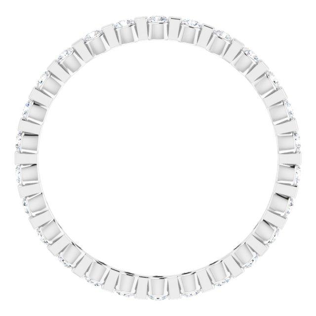 14K White 1/3 CTW Diamond Eternity Band Size 5