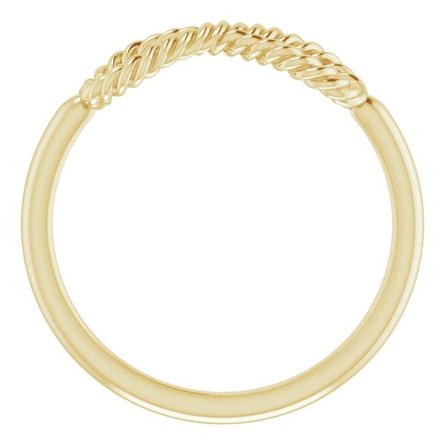 14K Yellow Infinity-Inspired Rope Ring
