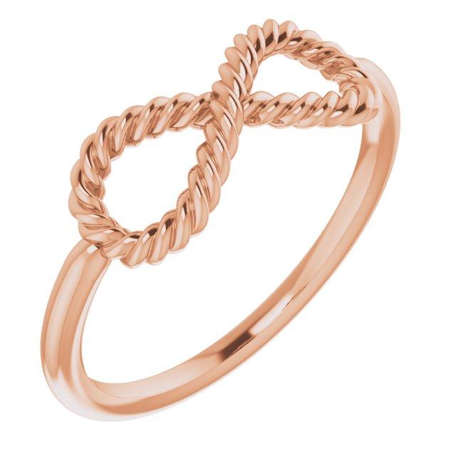 14K Rose Infinity-Inspired Rope Ring