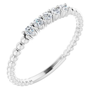 14K White 1/6 CTW Lab-Grown Diamond Stackable Ring