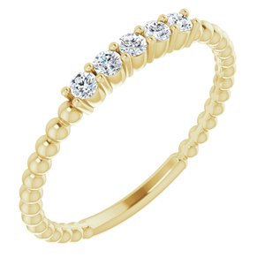 14K Yellow 1/6 CTW Lab-Grown Diamond Stackable Ring