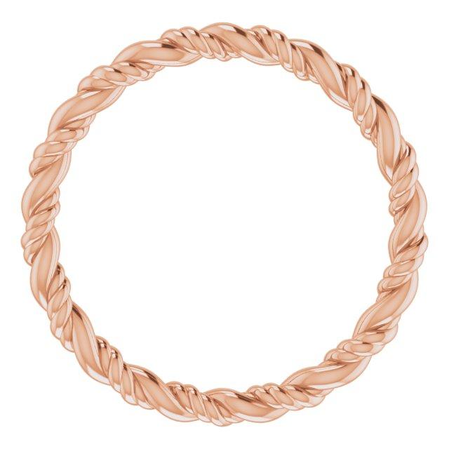 14K Rose Rope Band Size 7
