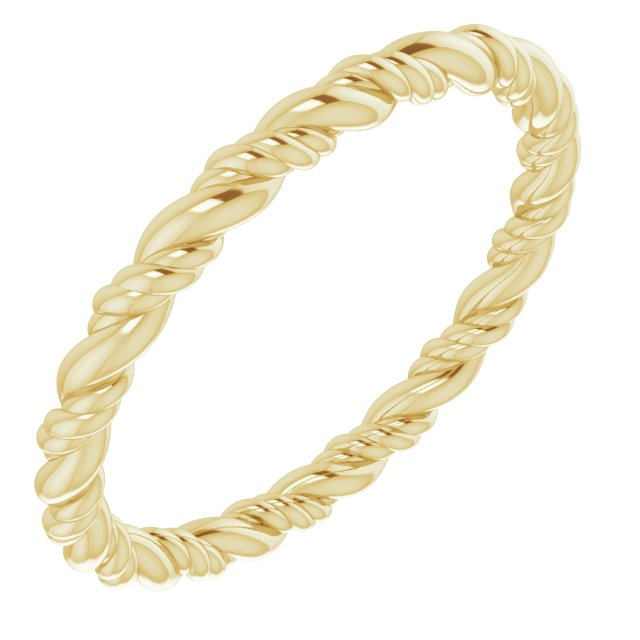 14K Yellow Rope Band Size 7