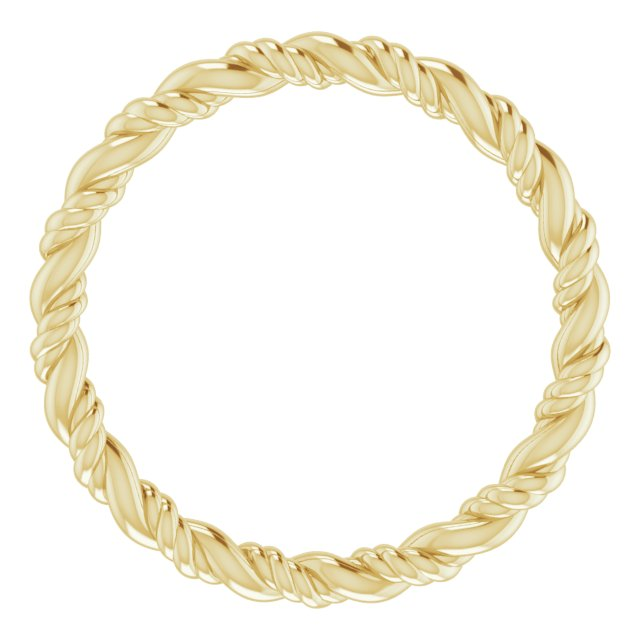 14K Yellow Rope Band Size 6