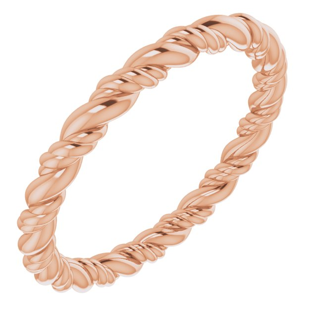 14K Rose Rope Band Size 4.5