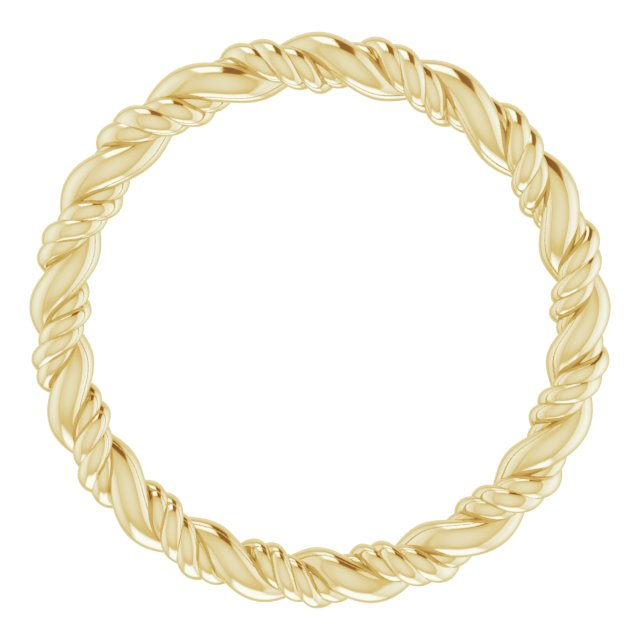 14K Yellow Rope Band Size 4.5