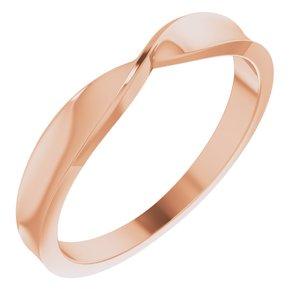 14K Rose 3 mm Stackable Twist Ring