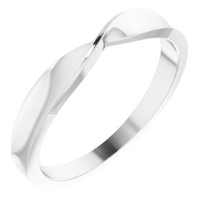 14K White 3 mm Stackable Twist Ring