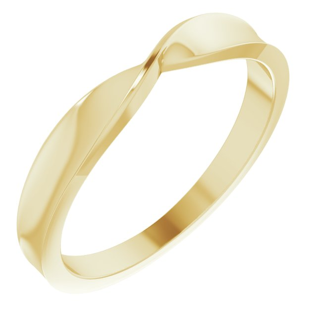 14K Yellow Twisted Stackable Ring