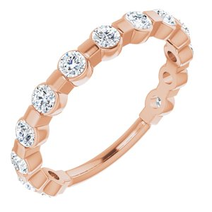 14K Rose 1/2 CTW Diamond Anniversary Band