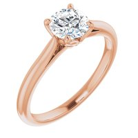 14K Rose 3/4 CT Lab-Grown Diamond Solitaire Engagement Ring