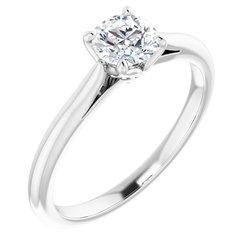 4-krapne Solitaire Engagement Ring